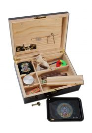 'Weedor' Hardwood Joint Box with Piano Lacquer