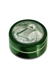 'Black Leaf' 2-Part Herb Grinder 'In Weed We Trust'