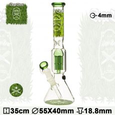'Dope Bros' Grass Series 'Jellyfish' Percolator Bong