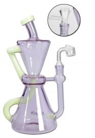 Blaze Glass Recycler Bong for Herbs / Dab Rig for Oil