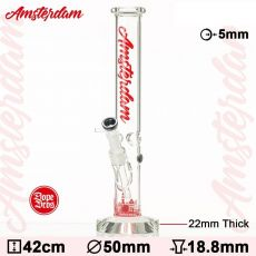 Dope Bros 'Hammer Series' Amsterdam Bong (Red)