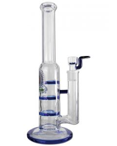 'Black Leaf' Glass Bong with 'Triple Turbine'