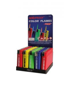 Torch Lighters 'Prof' Colour Flames Windproof