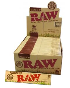 """RAW"" Organic Hemp Rolling Papers Kingsize Slim"