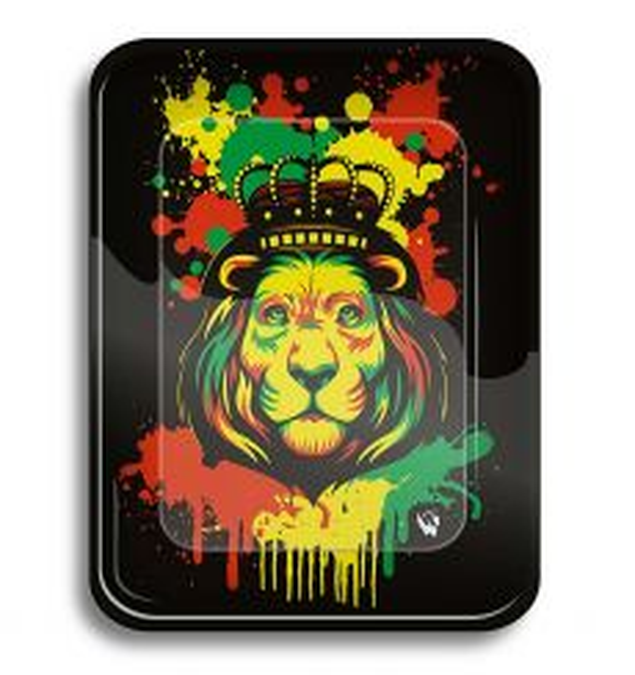 Rolling Tray 'Rasta Lion'
