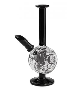 Dab Rig 'In Weed We Trust' Black Leaf