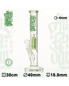Amsterdam Ice Bong with Dome Percolator (Green)
