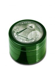 'Black Leaf' 4-Part Herb Grinder 'In Weed We Trust'