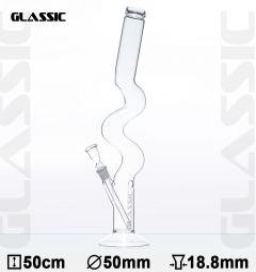 'GLASSIC' Zig Zag Bong
