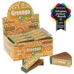 'Greengo' Unbleached Filter Tips (Display/Booklet)