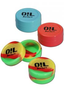 'Oil Black Leaf' Silicone Dabs Storage Box 22ml