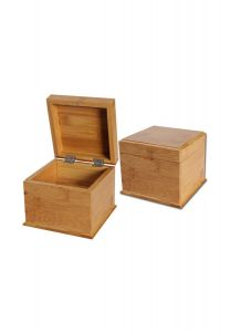 Bamboo Storage Box with Secret Tray