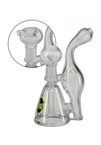 Black Leaf Recycler Water Pipe for Herbs & Dabs