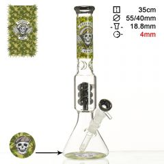 Dope Bros 'Grass Series' Death Rider Bong (Ice & Percolator)
