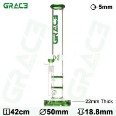 Grace Glass 'HAMMER Series' 2x HoneyComb Bong (Green)