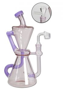 Purple Diffuser & Recycler Bong For Herbs & Oil 'Blaze'