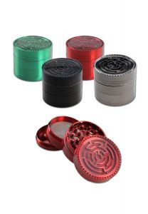 'Black Leaf' 'Labyrinth Ball' Zinc Weed Grinder