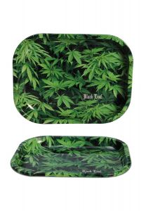 'Black Leaf' Rolling Tray 'Hemp'