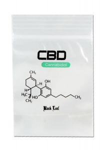 "'Black Leaf' Zip Bags ""CBD"" (40x60mm)"