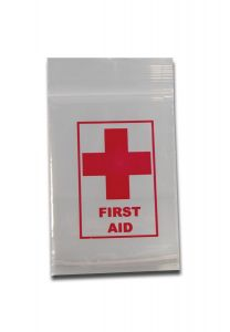 "'Black Leaf' Zip Bags ""First Aid"" 40x60mm"