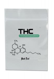 "'Black Leaf' Zip Bags ""THC"" (40x60mm)"