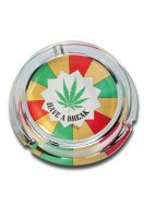 "'Black Leaf' Heavy Glass Ashtray ""Have A Break"""