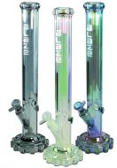Blaze Glass 'Gear' Ice Bong Rainbow Metallic Effect