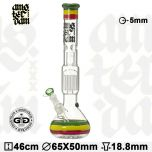 Grace Glass 'AMSTERDAM Series' Perc & Ice Bong 'Rasta'