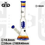 Grace Glass 'Piece of Art' Blue Spiral Percolator Bong 'OG Series'