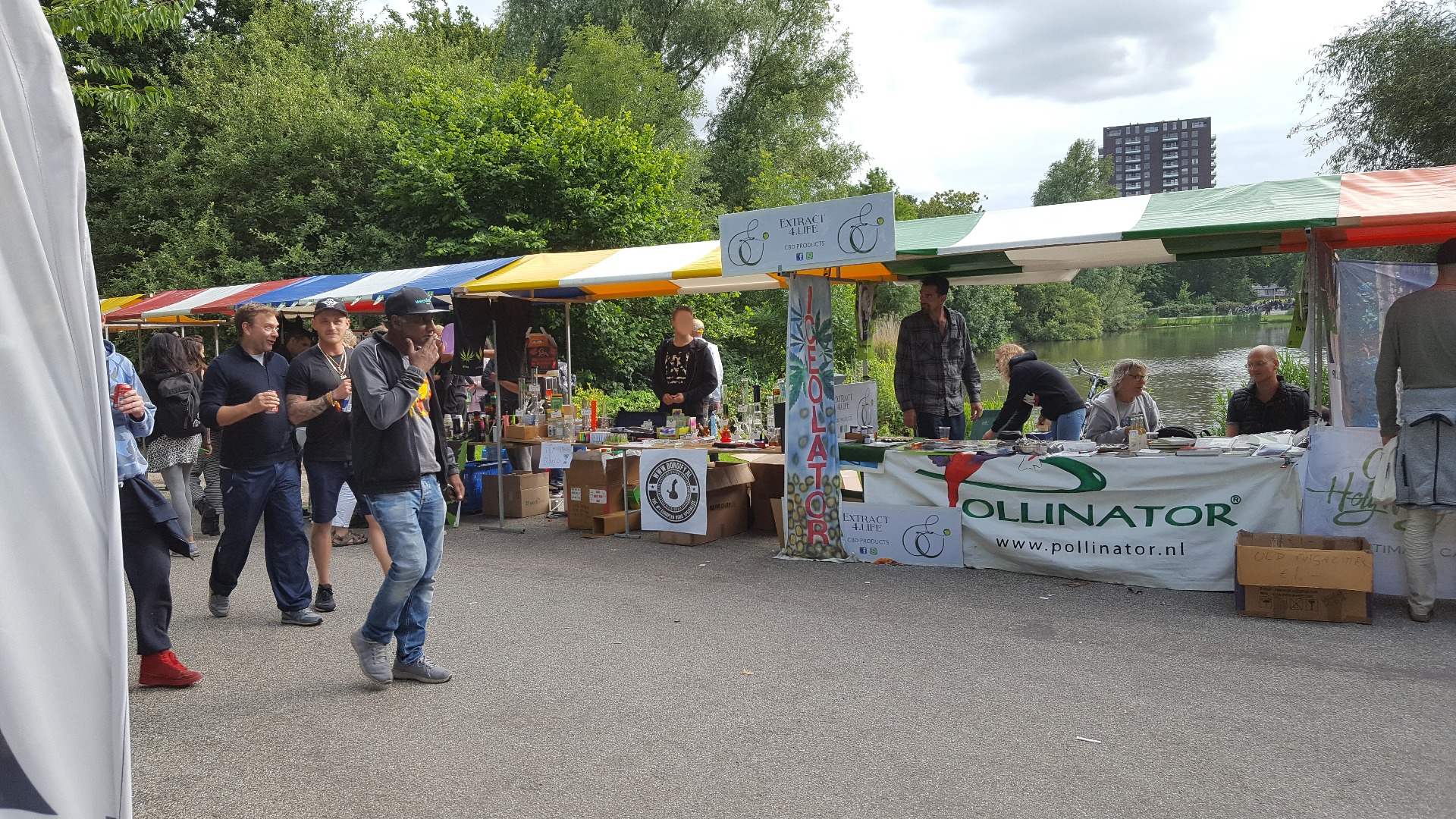 Our booth at Cannabis Liberation Day
